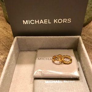 Michael Kors Mercer link hoop earrings (NWOT)